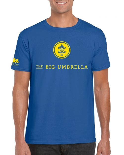 Logo Blue Tshirt by The Big Umbrella