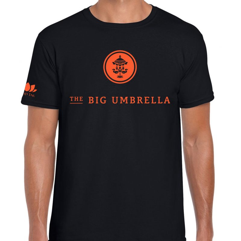Orange Logo (TEAM LEADER ONLY) Black Tshirt