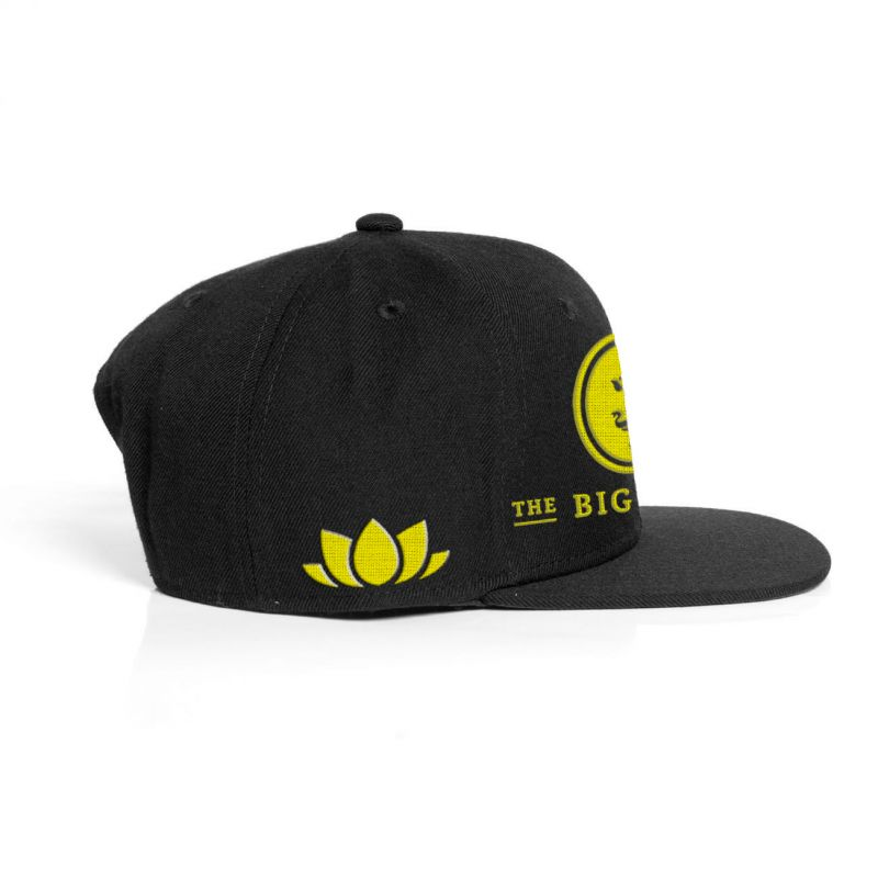 Yellow Logo Black Snapback